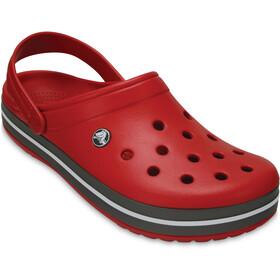 Crocs Crocband Clogs zoccoli, rosso/nero